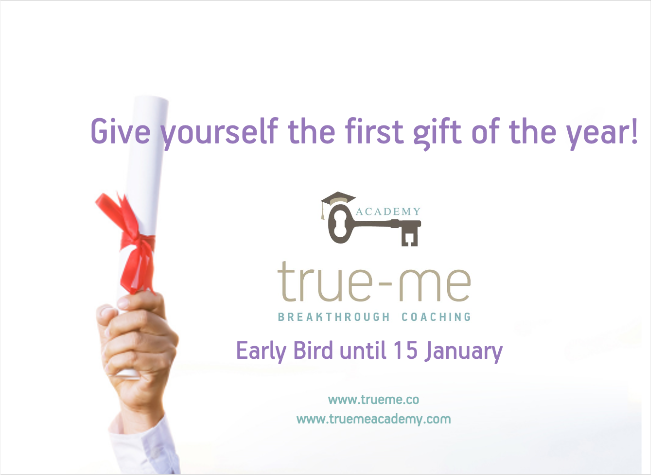 Give yourself the first gift of the year!